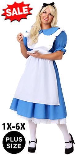 1X 2X 3X 4X 5X 6X Plus Size Alice Costume