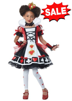 child deluxe queen of hearts child costume