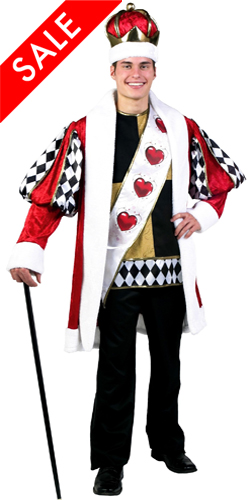 Deluxe King of Hearts Costume for Men