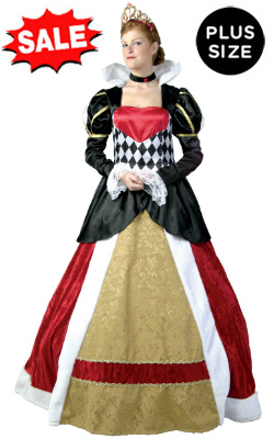 Elite Plus Size 5X 6X Queen of Hearts Costume