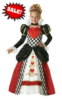 fancy queen of hearts child costume