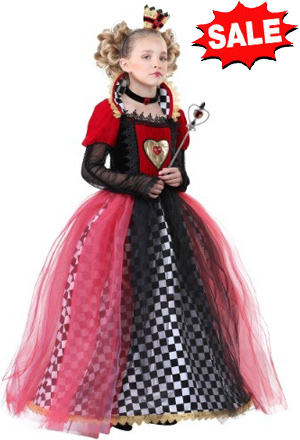 Ravishing Queen of Hearts Costume for kids