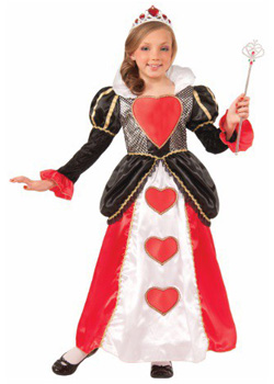kid queen of hearts costume for girls