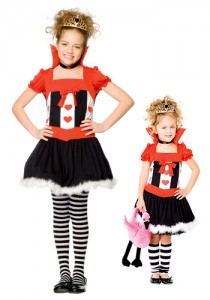 child queen of hearts girl costume