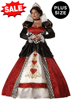 cheap plus size halloween costumes 5x discount plus size queen of hearts costumes for full figure