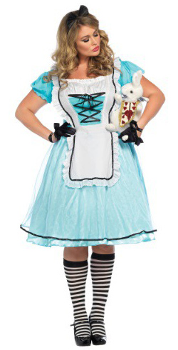 Plus Size Tea Paty Alice Costume
