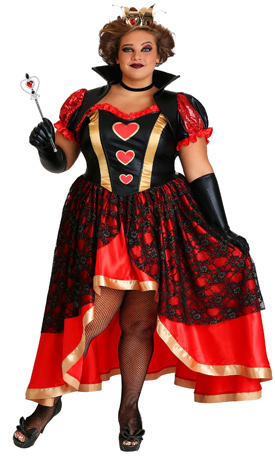 Dark Queen of Hearts Costume Women's Plus Size