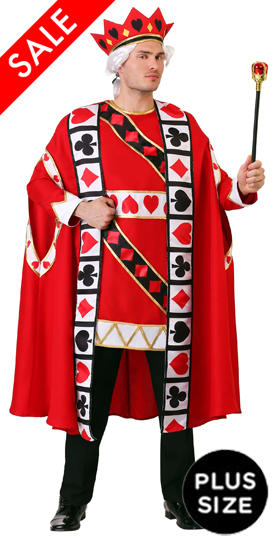 Plus Size King of Hearts Costume for Men
