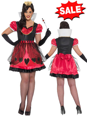 1X 2X 3X 4X 5X Plus Size Queen of Hearts Costume