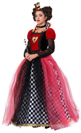 Plus Ravishing Queen of Hearts Costume 1X 2X
