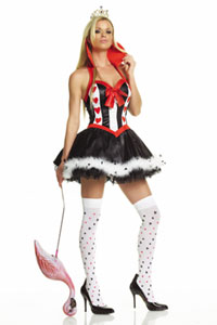 Leg Avenue's Sexy Queen of Hearts Dress Halloween Costume