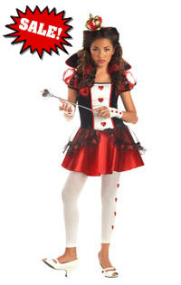 Tween Queen of Hearts Costume for Girls