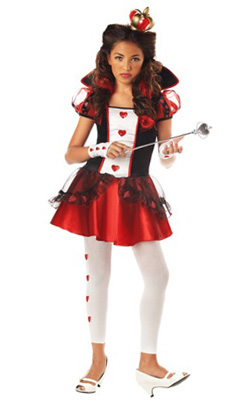 Tween Queen of Hearts Halloween costumes kids